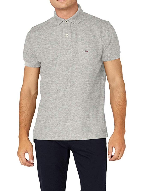 Polo à manches courtes Tommy Hilfiger - Gris & Tailles S, L et XL