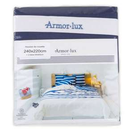 Housse de couette à rayures + 2 taies d'oreiller Armor-Lux - 240x220 cm