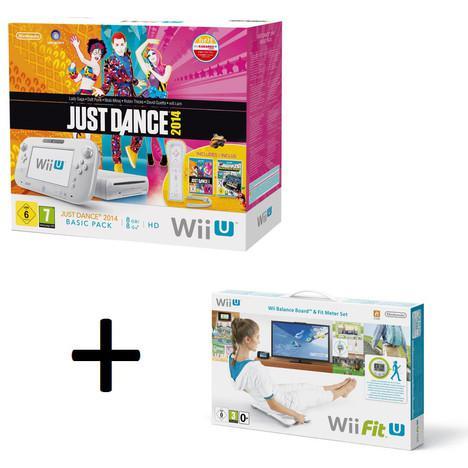 Console Nintendo Wii U 8 Go + Nintendo Land + Just Dance 2014 + Manette + Wii Fit U + Wii Balance Board
