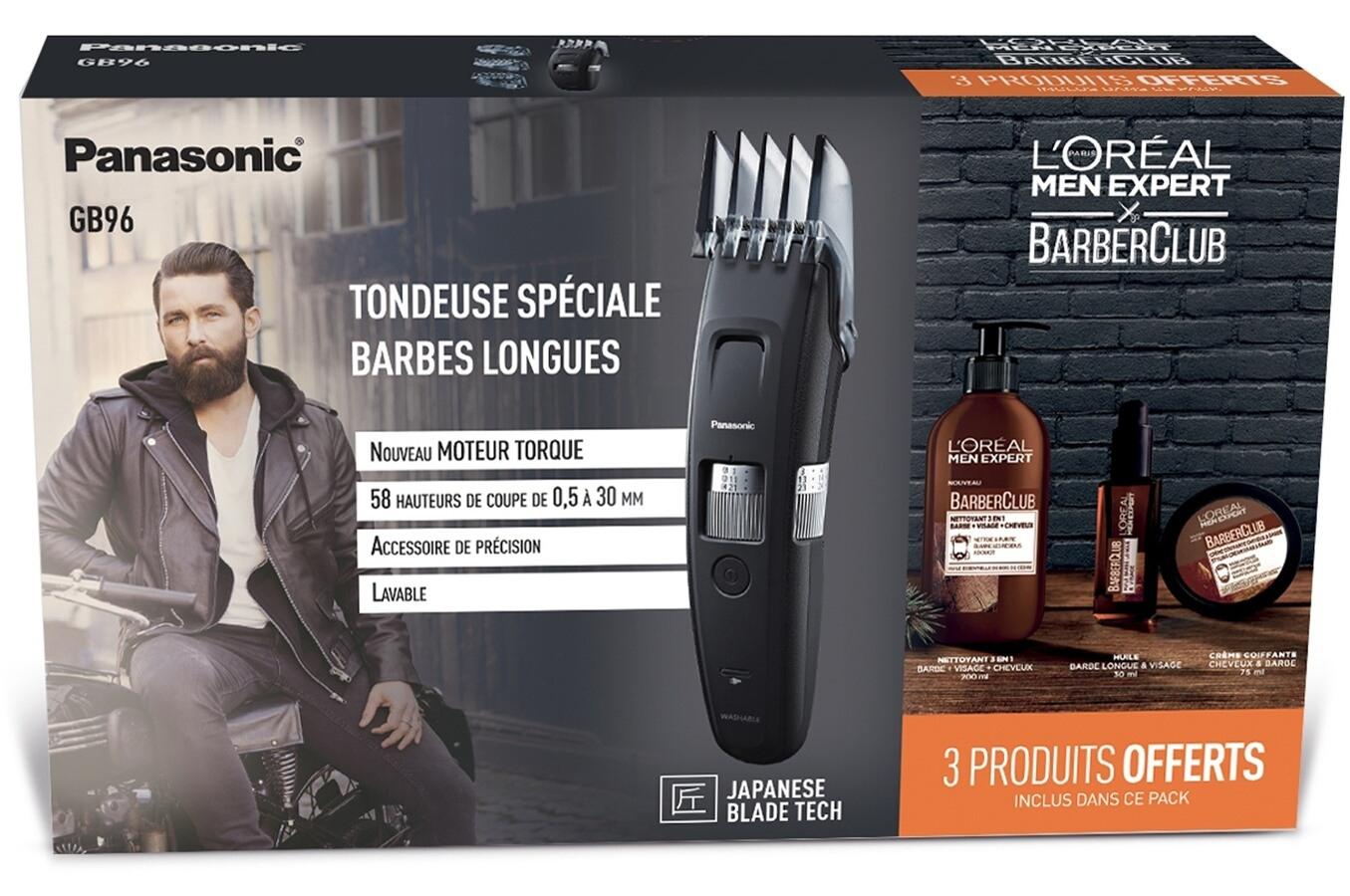 Tondeuse barbe & cheveux Panasonic GB96 Barber Pack