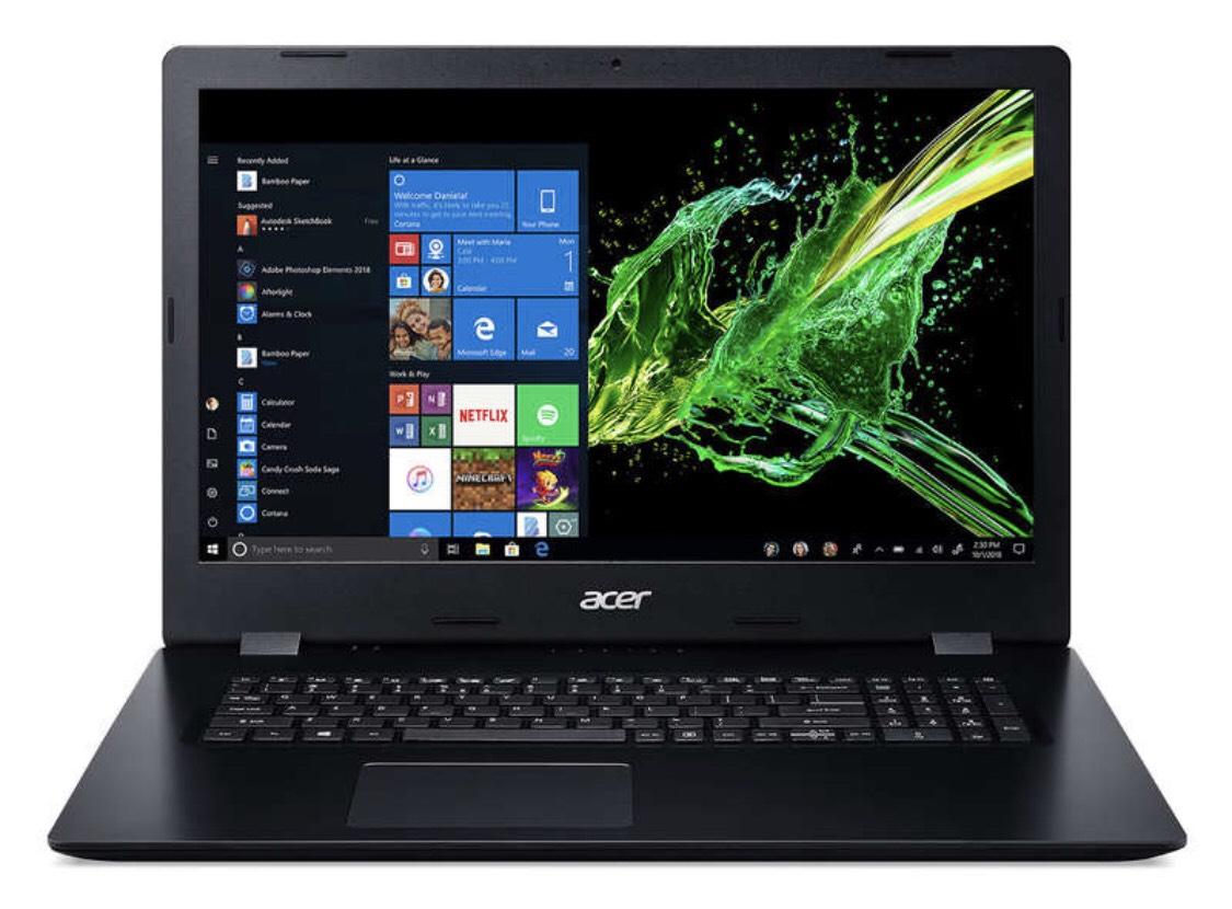 PC Portable 17.3'' Acer Aspire A317-51G-53QK - i5-8265U, 8 Go de RAM, 1 To + 128 Go SSD, GeForce MX230 (2 Go), Windows 10