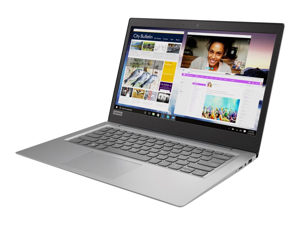 PC Portable Lenovo Ideapad 120S-14IAP - Intel Celeron N3350, 4Go Ram, Stockage 64Go, Gris minéral