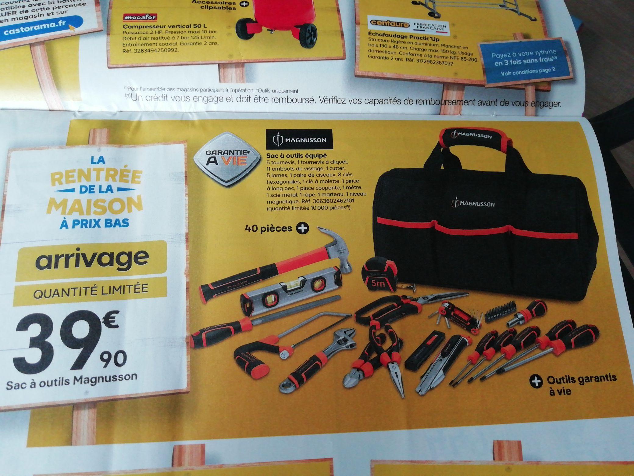 Sac à outils équipé 40 pièces Magnusson