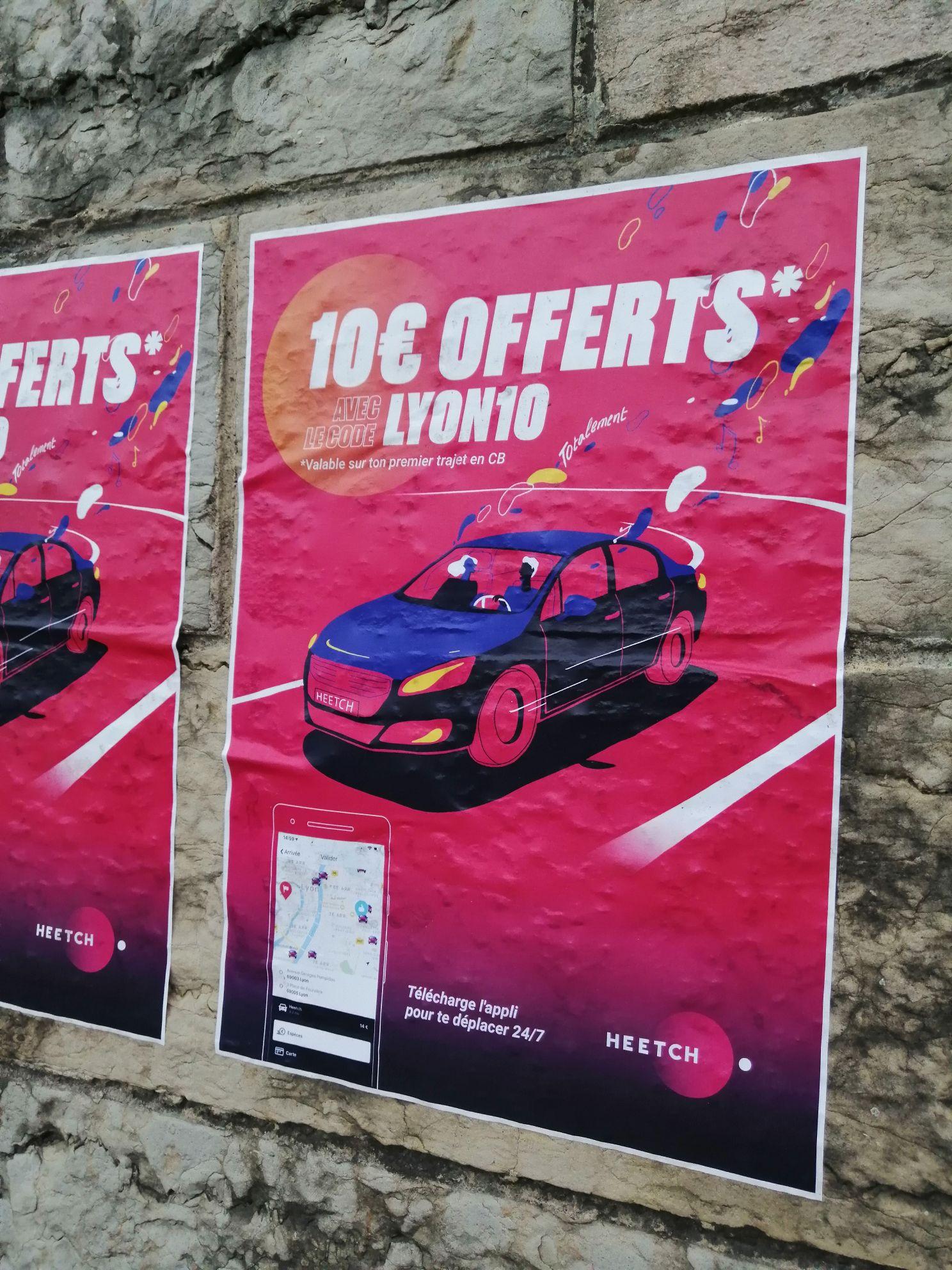 [Nouveaux clients] 10€ de réduction sur une première course en VTC - Lyon (69)