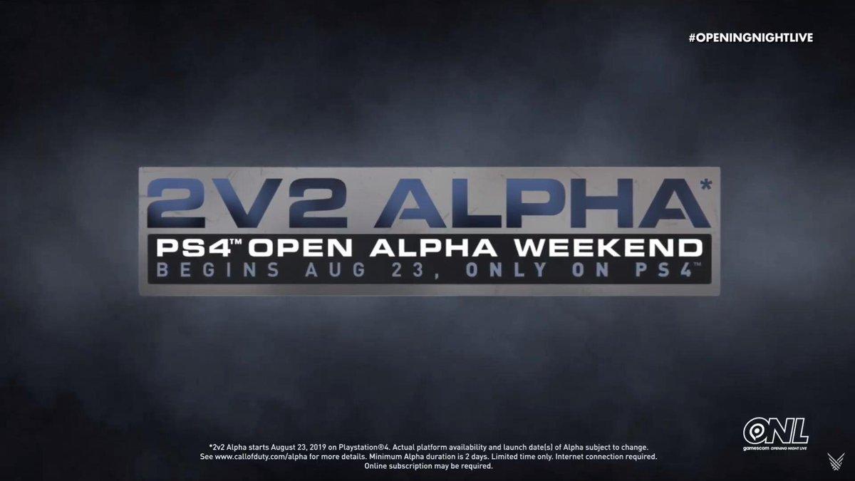 Alpha 2v2 Call of Duty Modern Warfare - Du 22 au 25 Août sur PS4 (Dématérialisé)