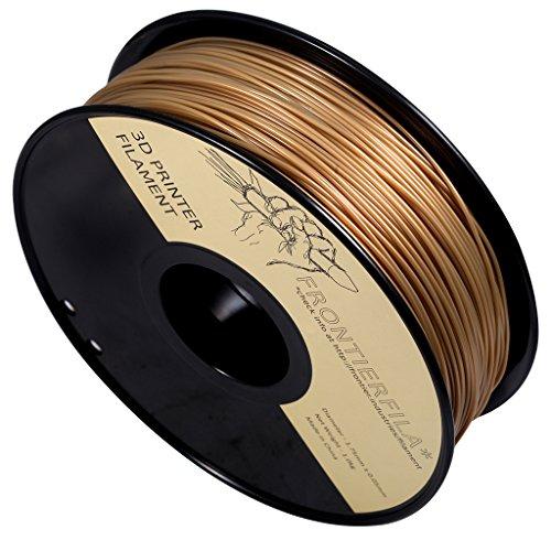 Filament PLA FrontierFila Or pour Imprimantes 3D - 1Kg,1,75mm (Vendeur Tiers)