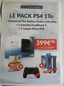 Pack Console Sony PS4 1 To + Uncharted + Seconde manette ps4 + Casque konix