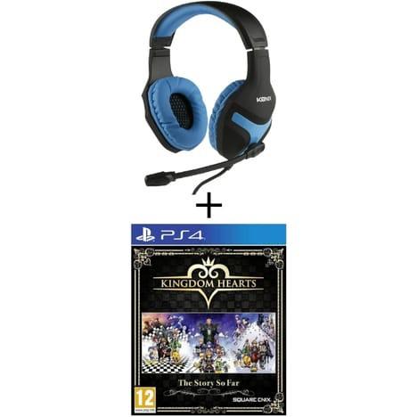 Casque Gaming Konix PS4 + Kingdom Hearts: The Story So Far PS4
