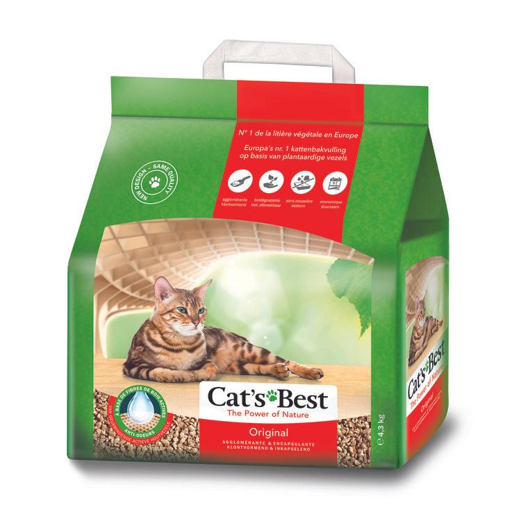 Lot de 3 sacs de litière pour chat Cats Best Oko Plus (3 x 10 L)