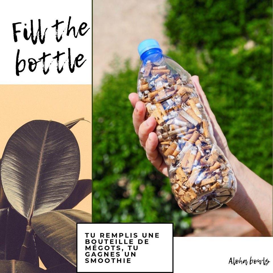 [FillTheBottle] 1 bouteille de mégots rapportée = 1 smoothie au choix offert - Aloha Bowls Les Sables-d'Olonne (85)