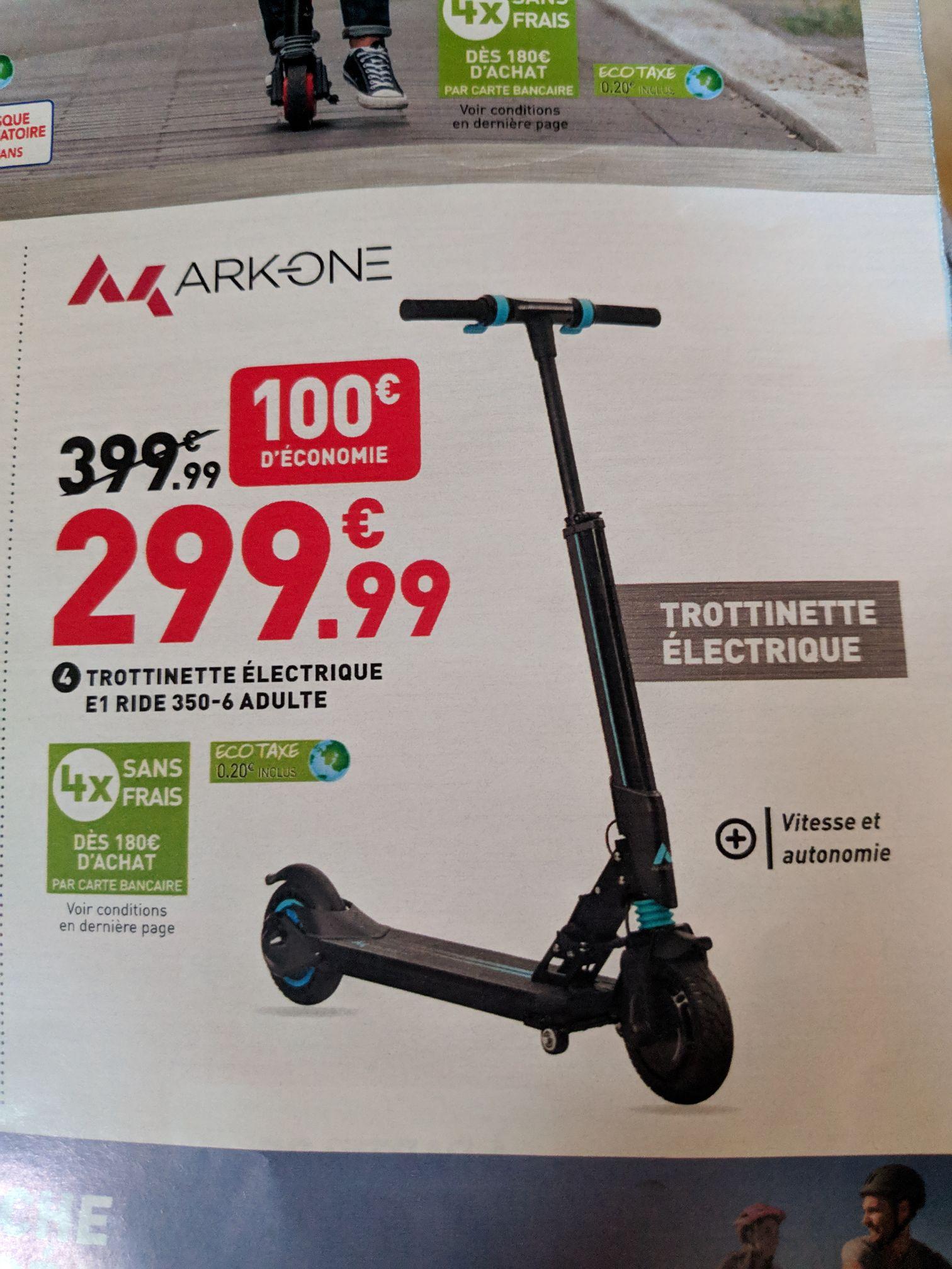 Trottinette électrique Ark-One E1 Ride 350-6 - 4 Ah, 36 V, 350 W