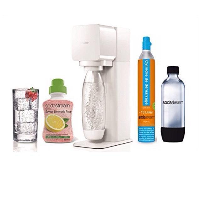 MegaPack  Sodastream Play Blanche machine à soda + 2 Bouteilles + 1 Concentré Limonade Rose