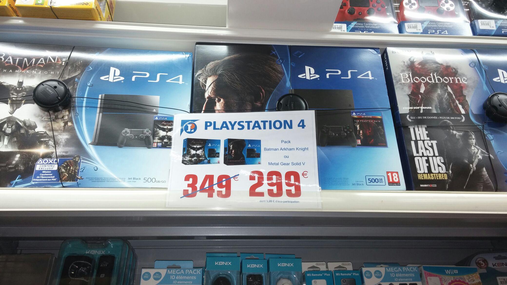 Console Sony PS4 - 500 Go + 1 jeu offert