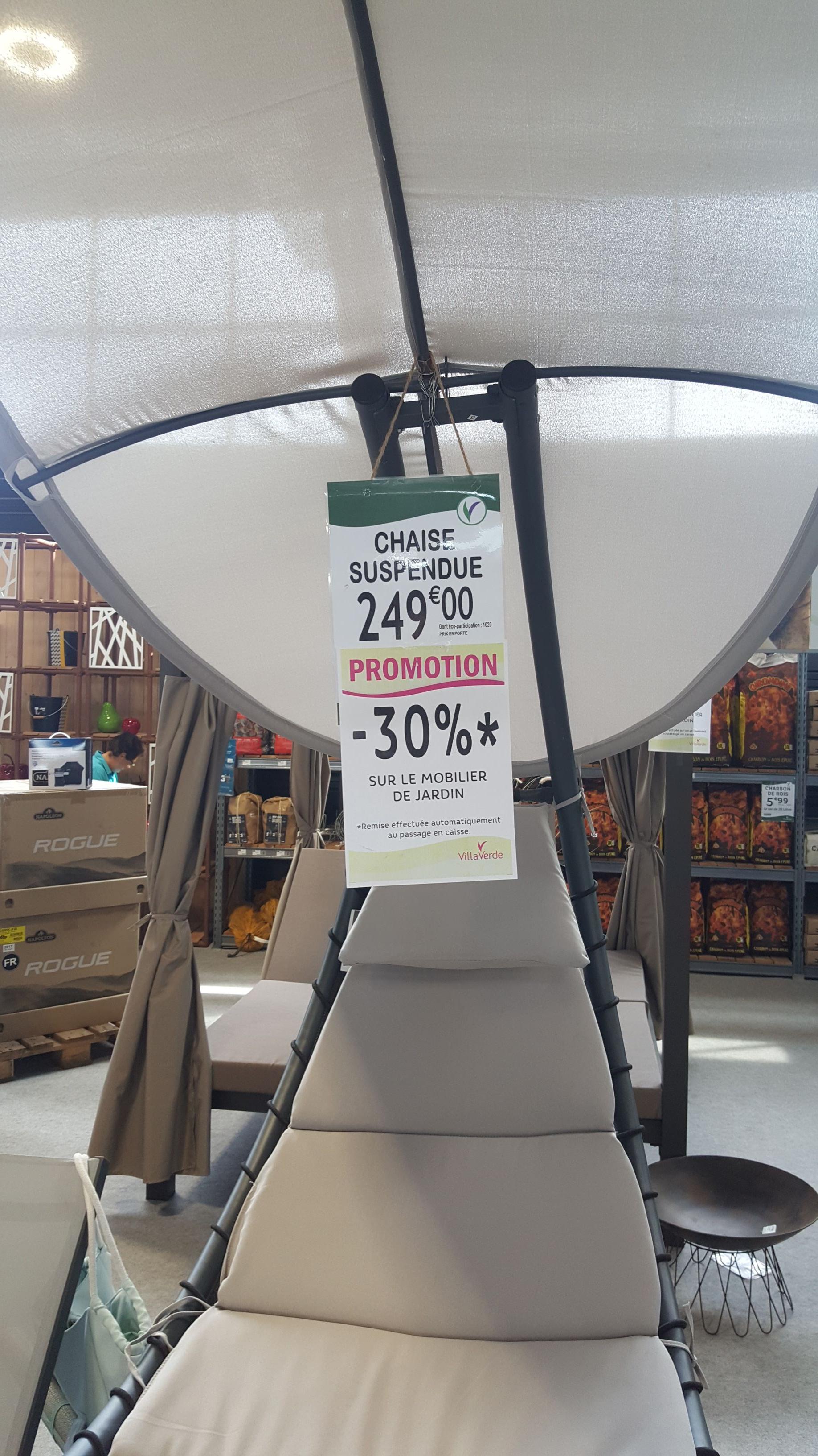 30% de réduction sur le mobilier de Jardin - Villaverde ...