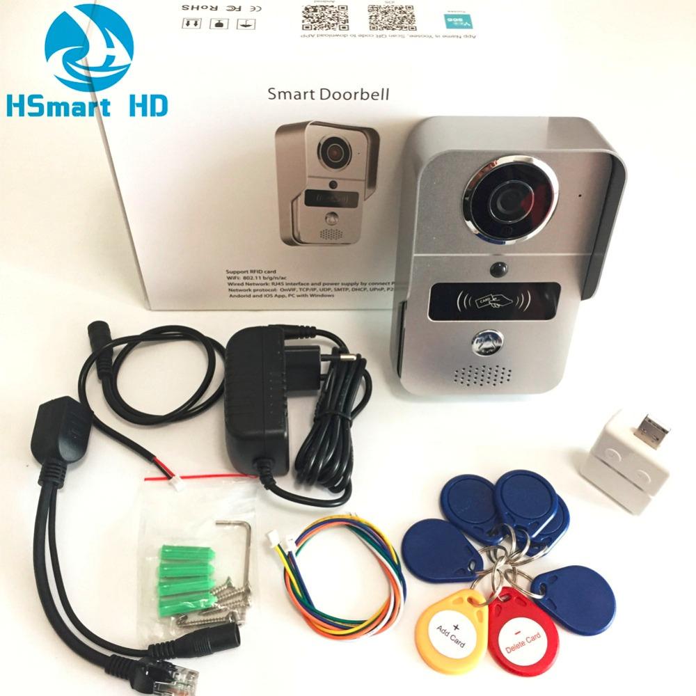 Sonnette vidéophone connecté type KONX avec badges RFID (Via l'Application)