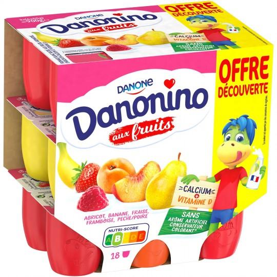 Paquet de 18 yaourts Danone Danonino aux Fruits (18x50 g) - Saint-Egrève (38)