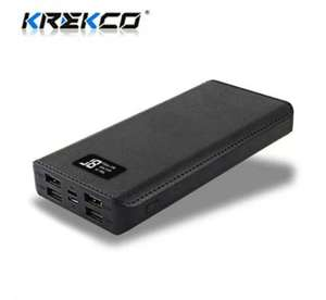 Power Bank Krekco - 50000mAh, Charge rapide, 4 USB (+0.88€ en SuperPoints)