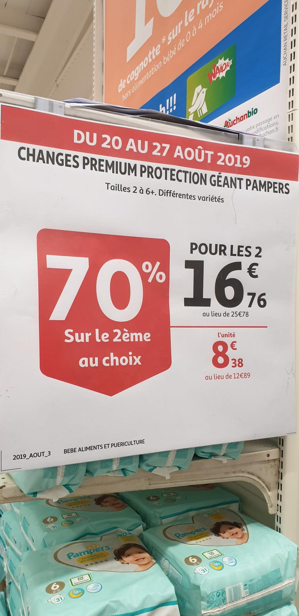 Lot de 2 paquets de Couches Pampers premium protection (Plusieurs variétés) -  Balma Gramond  (31)