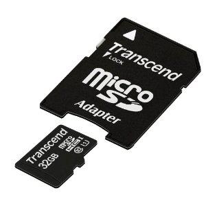 Carte mémoire Transcend Micro SD 32 Go - Classe 10 UHS
