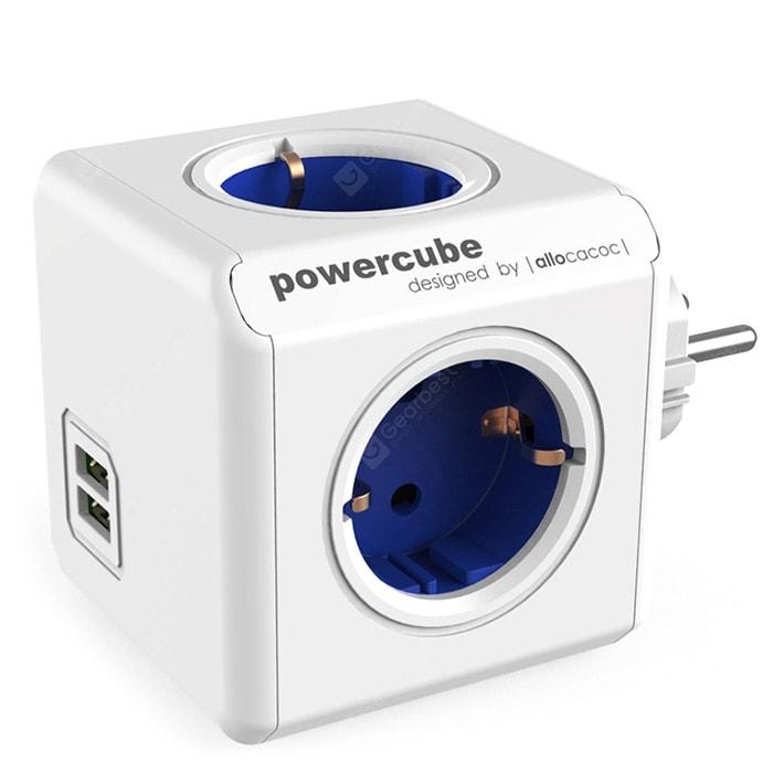 Multiprise Gocomma 1202 Blue - 4 Prises EU + 2 Prises USB