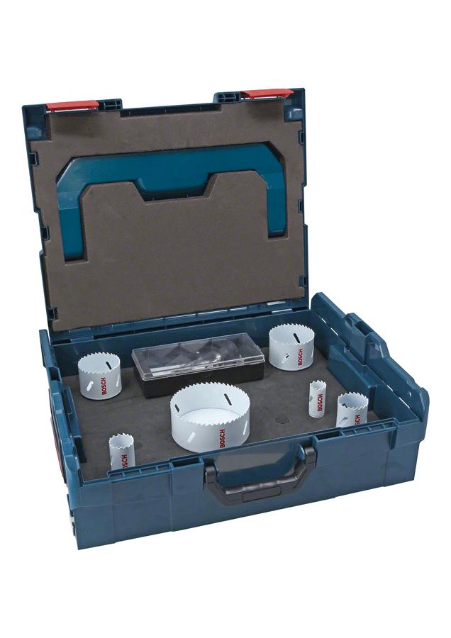 Coffret Bosch L-Boxx de scies trépans bois et métal Progressor - 8 pièces