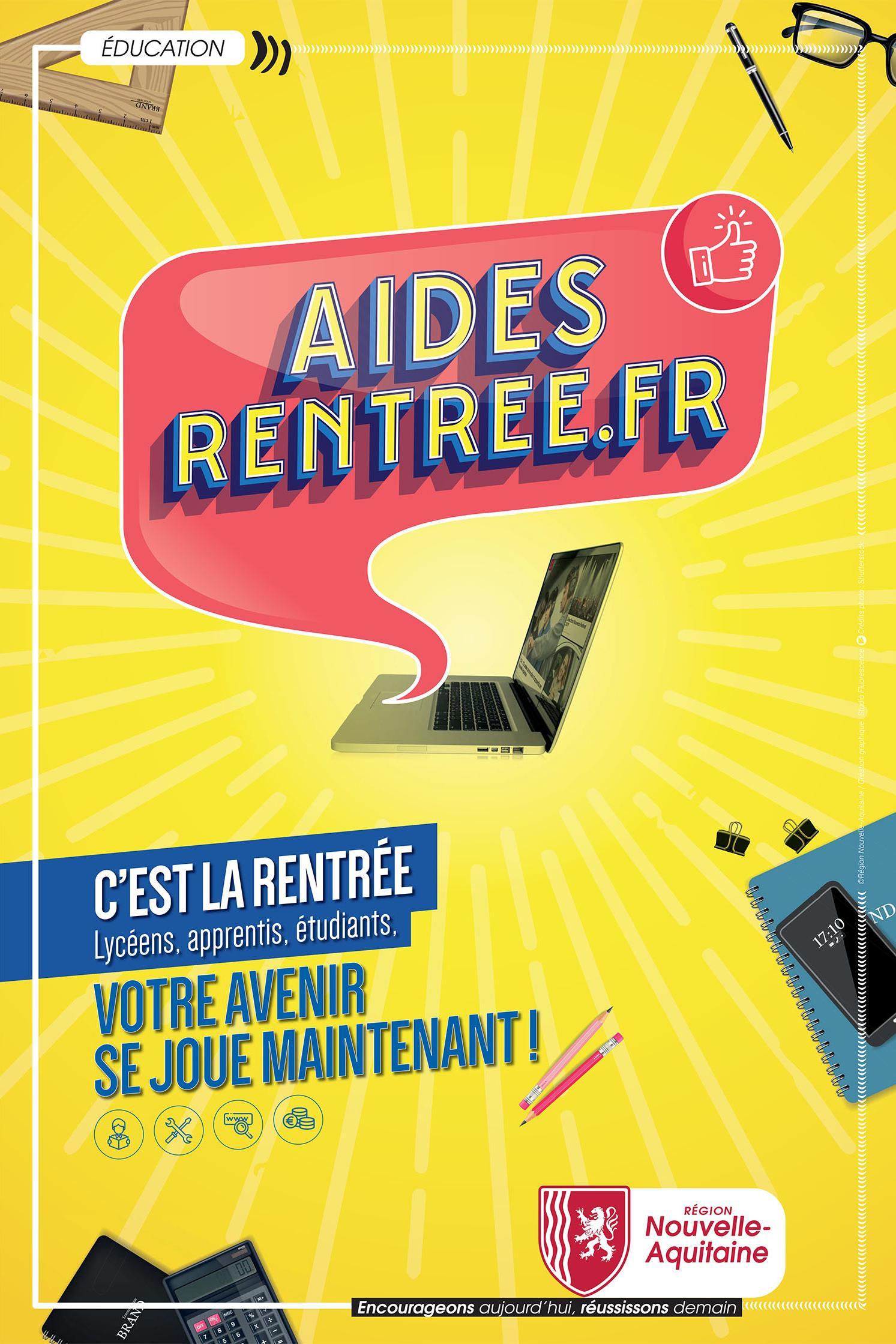 Manuels scolaires gratuits à hauteur de 200€ et chèque-livres de 20€ offert pour les lycéens - Région Nouvelle-Aquitaine