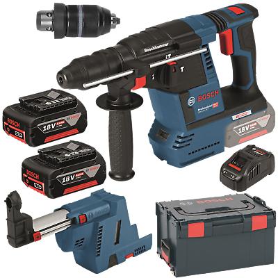 Perforateur sans fil Bosch Professional GBH 18V-26F + Chargeur + 2 Batteries 6Ah + Coffret LBoxx (fnwerkzeuge.de)
