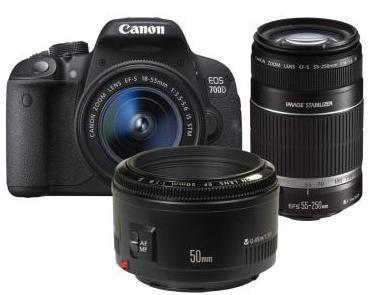 Reflex Canon EOS 700D + 18-55mm + 50mm (via ODR 50€)