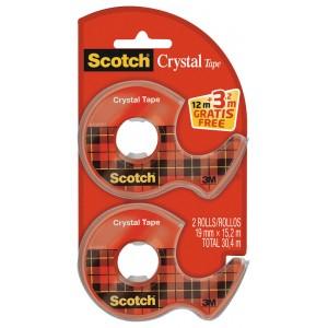 Sélection de Fournitures Scolaires en Promo - Ex: Lot de 2 Dévidoirs Scotch de Ruban Adhésif - 2 x 15,2m (Via 1,61 € sur Carte de Fidélité)