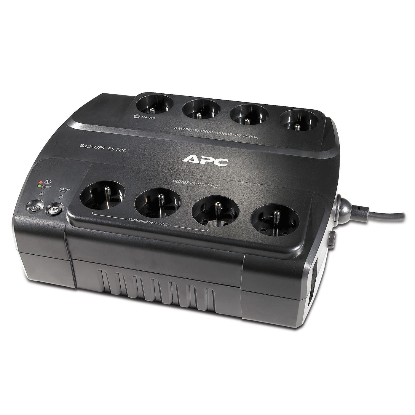 Onduleur parafoudre APC Back-UPS ES BE700G-FR (8 prises, 700VA/405W, 230V, CEE 7/5)