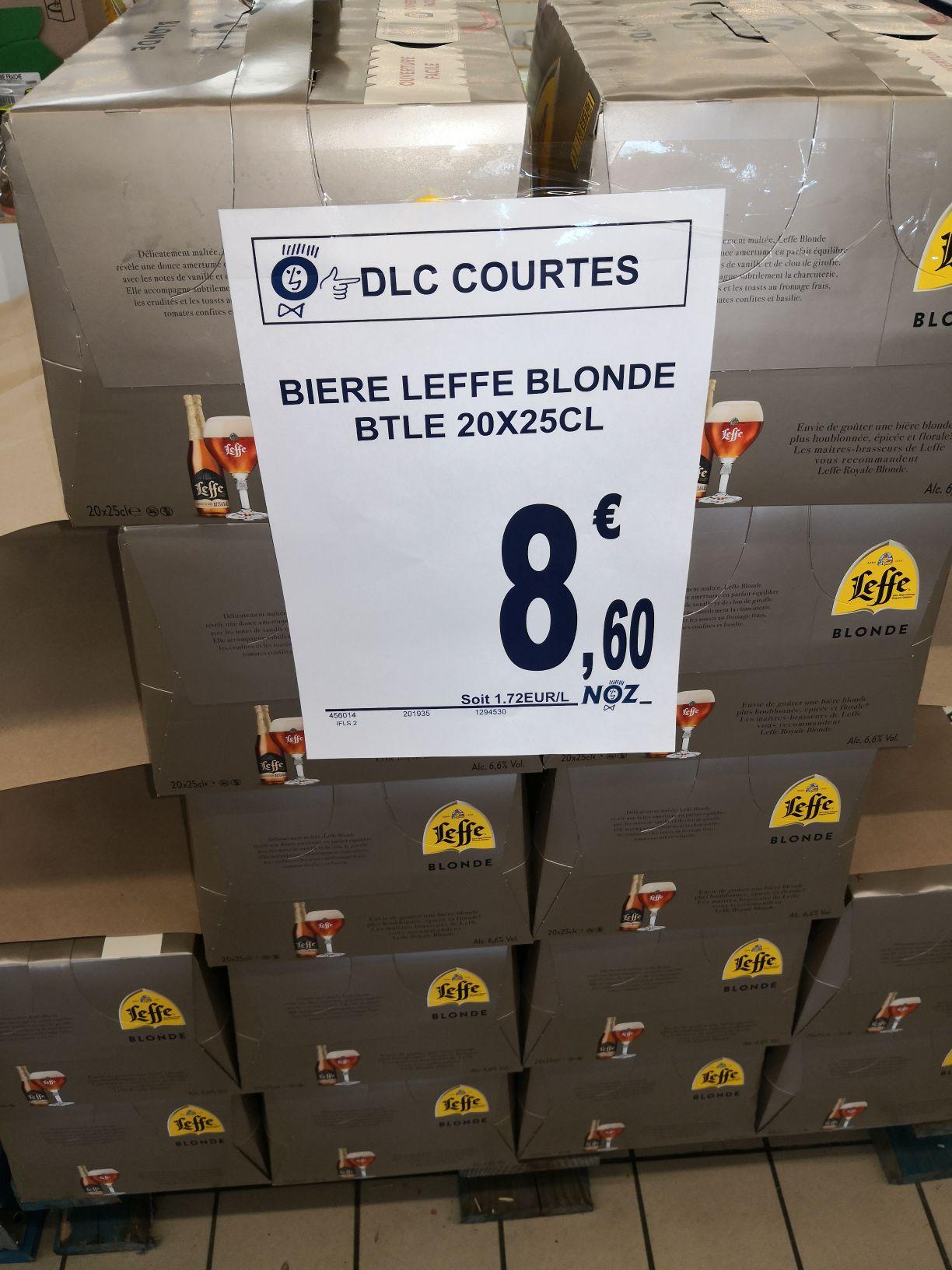 Un Pack de 20 Bières Blonde Leffe - Isbergues (62) / La Roche Sur Yon (85)