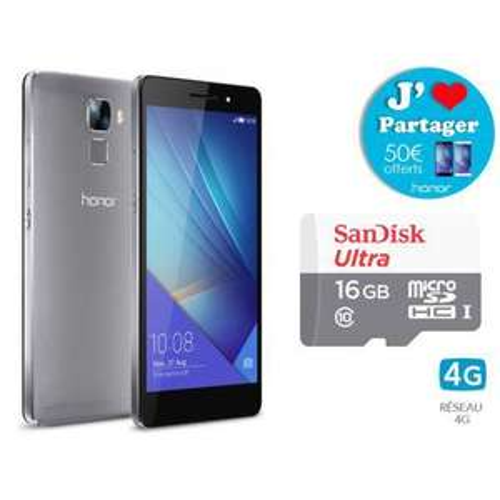 "Smartphone 5.2"" Honor 7 + Carte Micro SDHC Ultra UHS-1 16 Go (ODR 50€)"