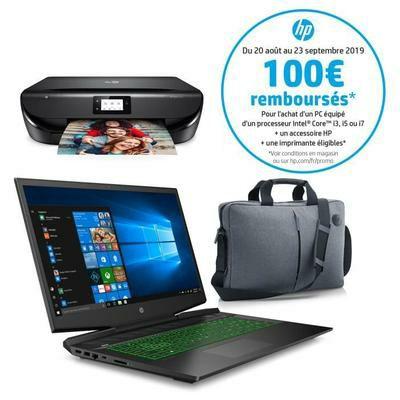 PC Portable HP Pavilion Gamer - 17.3 pouces FHD - Core i5-9300H - RAM 8Go - 1To + SSD 128Go - GTX 1050 3Go + Imprimante (via ODR 100 euros)