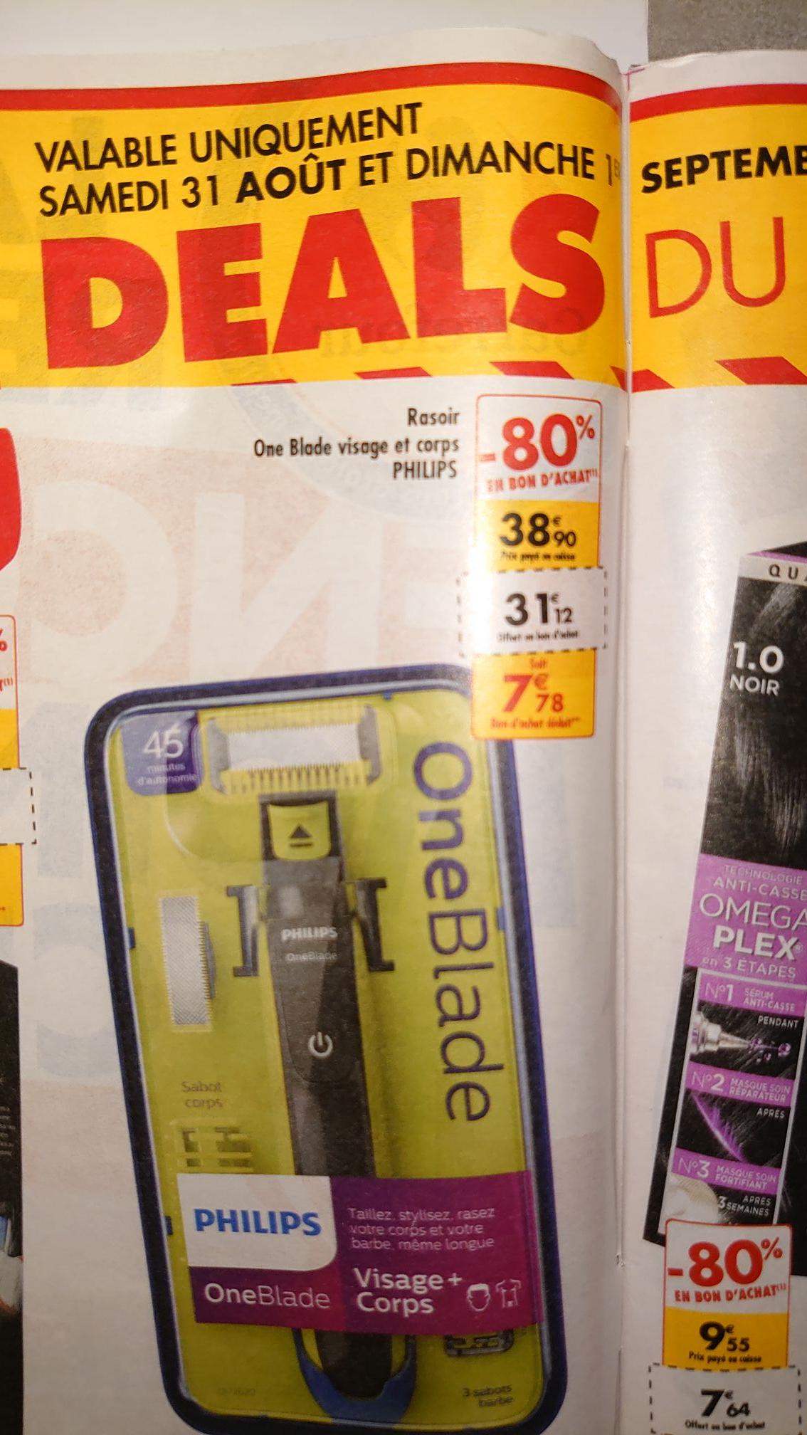 Tondeuse Philips Oneblade Visage et Corps (via 31.12€ en bon d'achat)