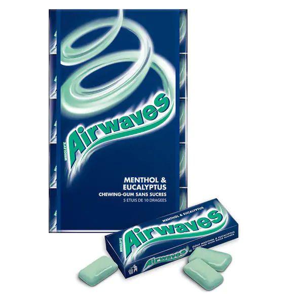 Lot de pack 3 de 5 sachets de 10 chewingums Air Waves (via 2,97€ ODR Shopmium)
