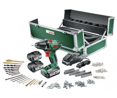 Toolbox Perceuse Visseusse sans fil Bosch psr 14.4 li-2 + 3 batteries 2,5 ah + 241 accessoires (avec ODR de 40€)