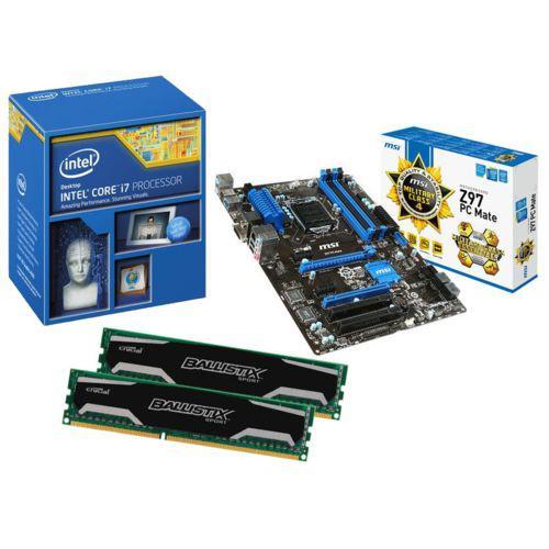 Kit EVO OC Gaming intel i7 4790K + Carte mère MSI Z97 PC MATE + 2x 4 Go DDR3 Crucial Ballistix Sport 1600 MHz CAS 9