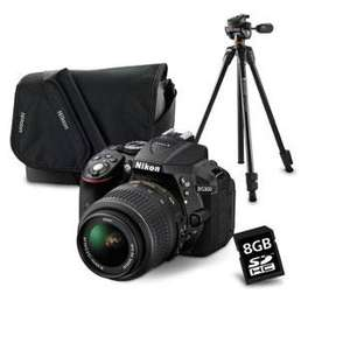 Reflex Nikon D5300 + objectif 18-55 + Sacoche + carte SD 8 Go + Trépied Vanguard Rotule Espod CX 203 AP (via ODR 50€)