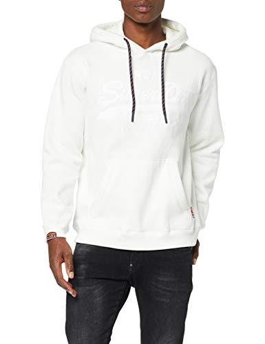 Sweat à capuche SuperDry Logo Applique Hood - Blanc (Taille S)