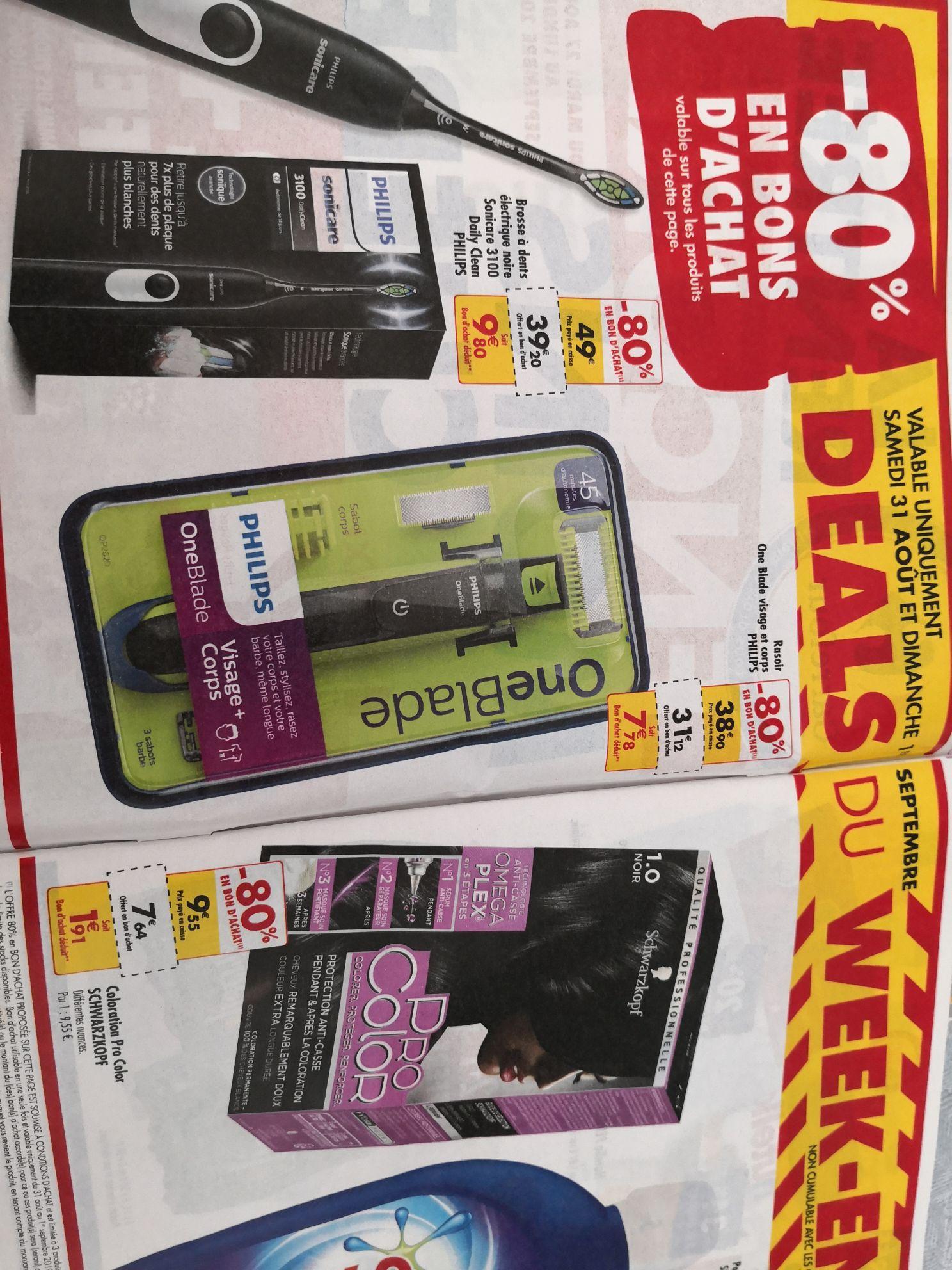 Brosse à dent électrique Philips Sonicare 3100 Daily Clean (via 39.2€ en bon d'achat)