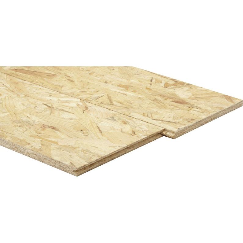 Dalle de plancher OSB - avec 3 plis, 250x67.5 cm, 22 mm d'épaisseur, en épicéa naturel