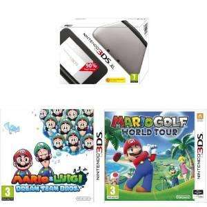 Console Nintendo 3DS XL + Mario and Luigi : Dream Team Bros et Mario Golf : World Tour - Plusieurs coloris