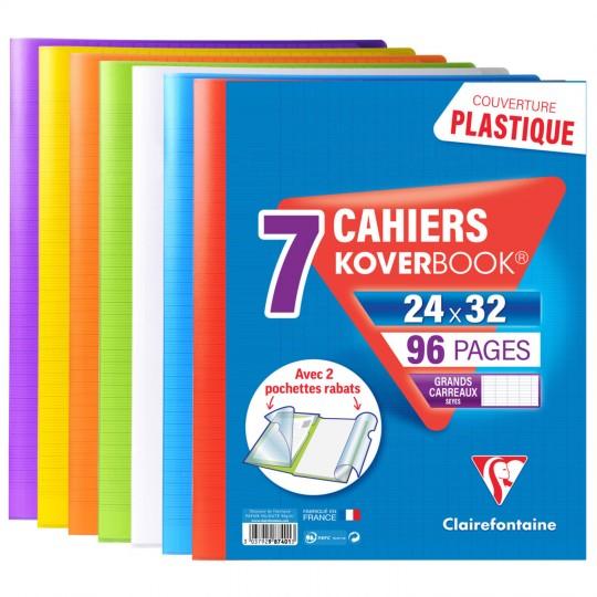 Lot 7 cahiers Clairefontaine Koverbook - 96 pages, 24x32cm (via 12.95€ sur la carte fidélité + ODR 5€)