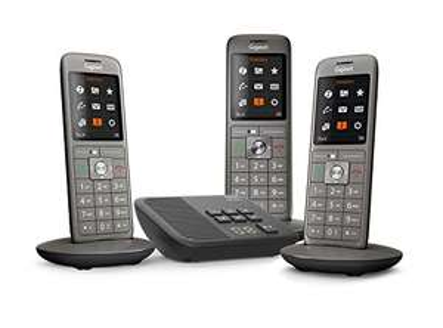Téléphone fixe sans fil (3 combinés) Gigaset CL660A Trio avec Répondeur