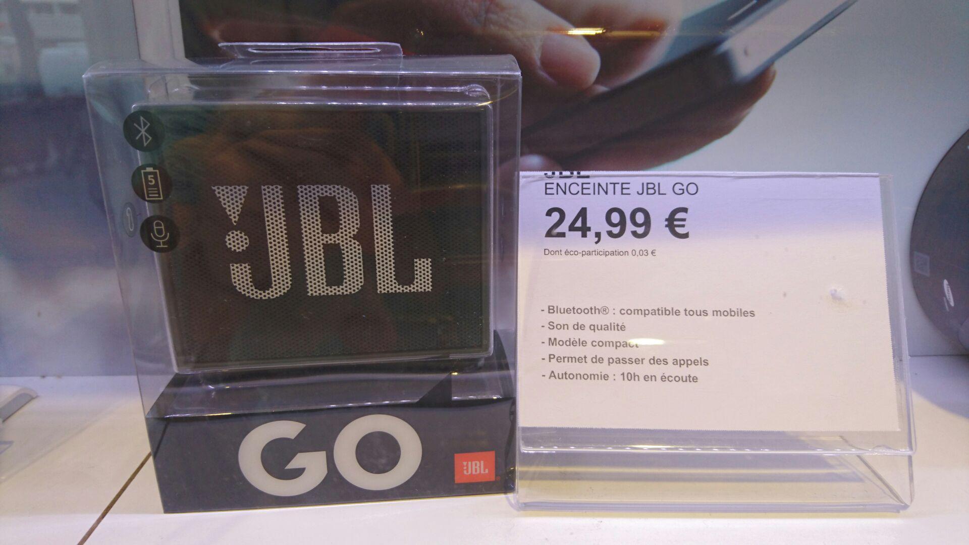 Enceinte Bluetooth JBL Go Noire