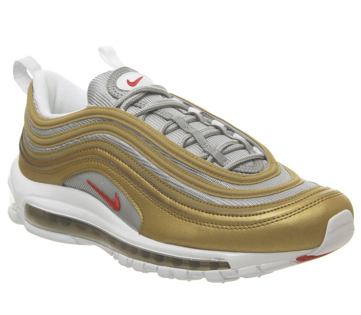 Promotion sur une sélection de baskets - Ex: Nike Air Max 97 Gold Silver White