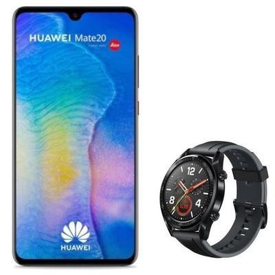 """Smartphone 6.53"""" Huawei Mate 20 - 128 Go + Smartwatch Huawei Watch GT - Noir"""