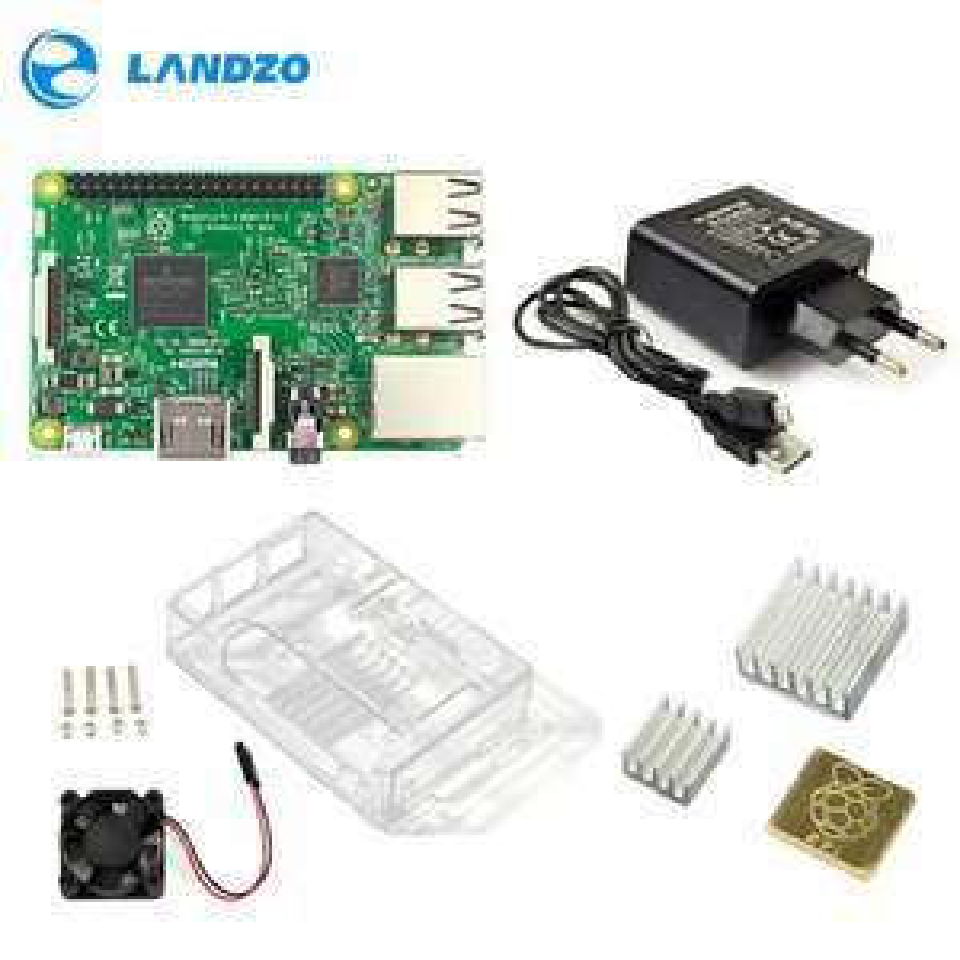 Kit de démarrage Raspberry Pi 3B - alimentation + boîtier + câble USB + dissipateur thermique + ventilateur (frais de port inclus)