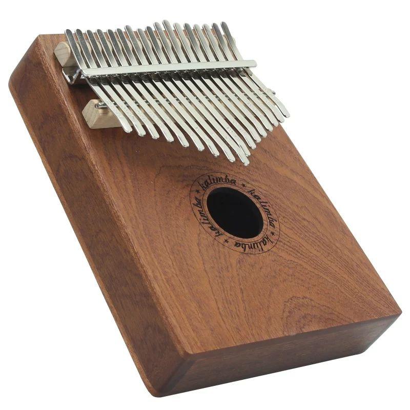 Instrument de musique Kalimba - 17 touches, coloris bois Teck ou noir
