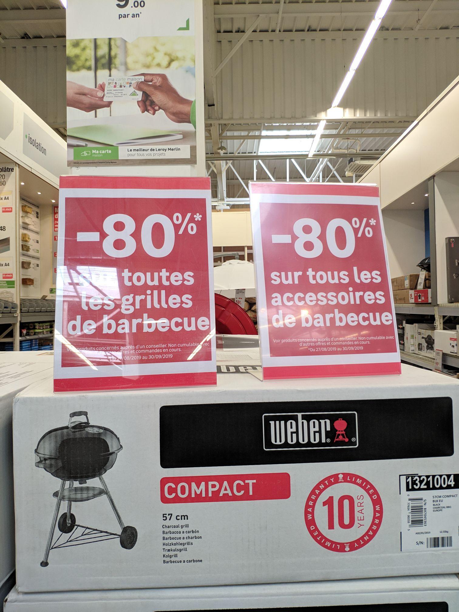 80% de réduction sur une sélection d'accessoires et grilles de barbecue - Ivry-Sur-Seine (94)